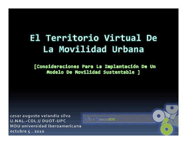 definir el concepto de movilidad sustentable:dimensionamiento del problema de lamovilidad urbana desde la valoración socia...