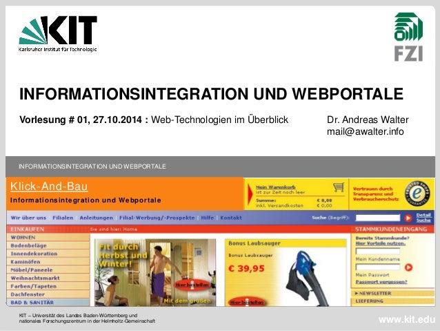 KIT – Universität des Landes Baden-Württemberg und nationales Forschungszentrum in der Helmholtz-Gemeinschaft INFORMATIONS...
