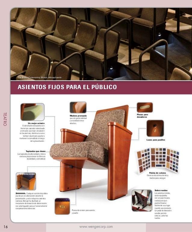 The Boston Conservatory, Boston, Massachusetts  ASIENTOS FIJOS PARA EL PÚBLICO  TEATRO  Un mejor asiento El almohadón del ...