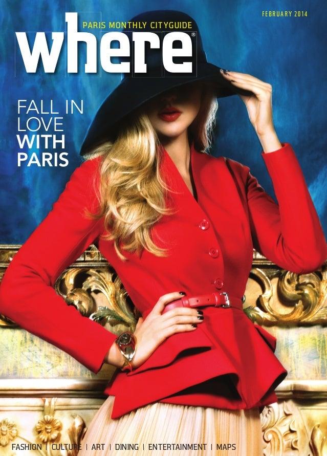 Magazine Where Paris n°241, english edition, daté février 2014, Jean-louis Roux-Fouillet