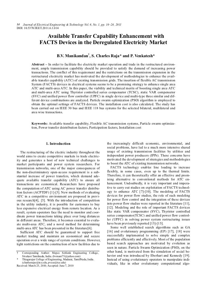 14 Journal of Electrical Engineering & Technology Vol. 6, No. 1, pp. 14~24, 2011DOI: 10.5370/JEET.2011.6.1.014            ...