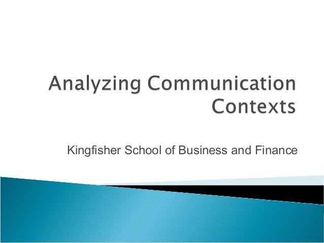Kingfisher School of Business and Finance