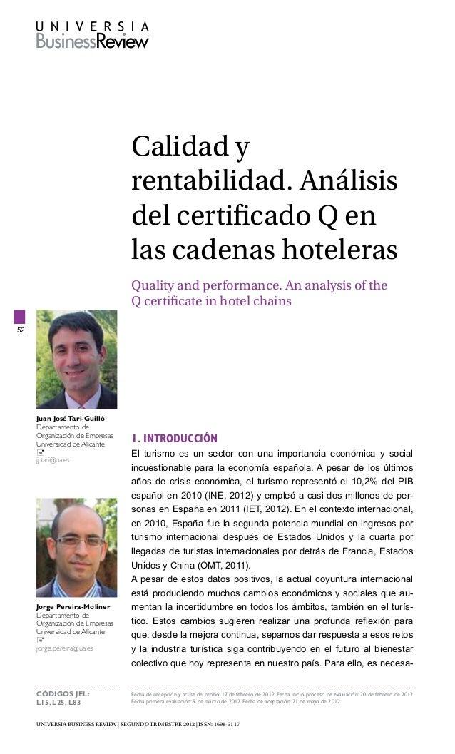 CALIDAD EN HOTELES