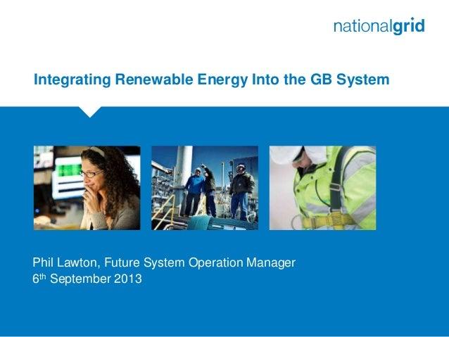 Intégration des énergies renouvelables dans le réseau de Grande-Bretagne