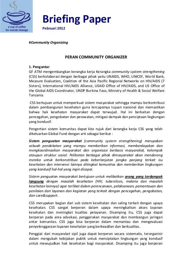 BriefingPaper Pebruari2012    #CommunityOrganizing    PERANCOMMUNITYORGANIZER  1.Pengantar GFATMmengemb...