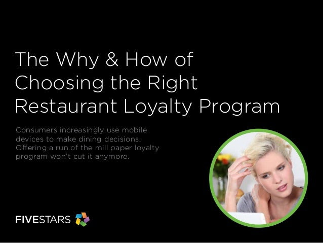 The Why & How of Choosing the Right Restaurant Loyalty Program