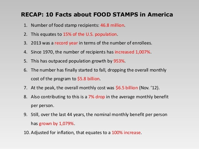 Food Stamp Facts