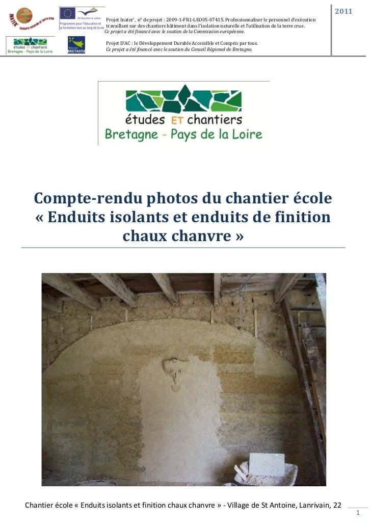 2011                          Projet Inater', n° de projet : 2009-1-FR1-LEO05-07415. Professionnaliser le personnel d'exéc...