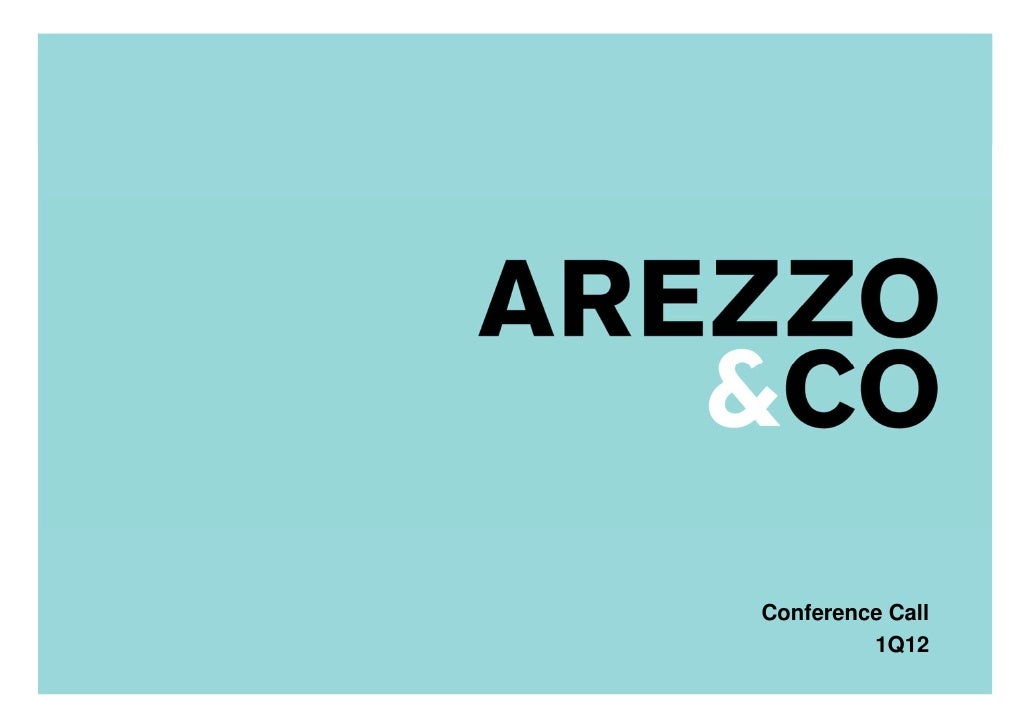 | Apresentação do Roadshow                         Conference Call                                  1Q12                  ...