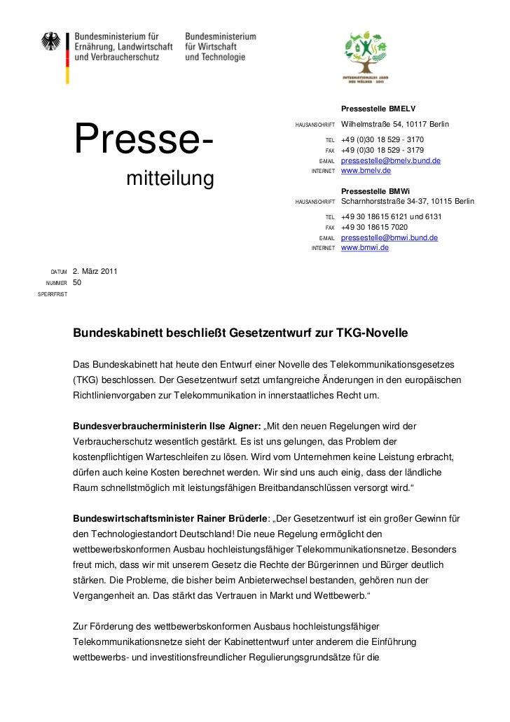 Pressestelle BMELV             Presse-                                                                 HAUSANSCHRIFT   Wil...