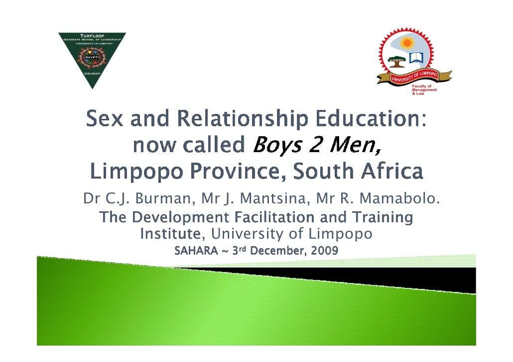 Dr C.J. Burman, Mr J. Mantsina, Mr R. Mamabolo.   The Development Facilitation and Training          Institute,          I...
