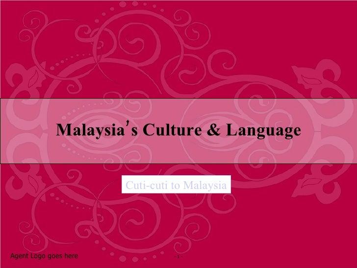 Malaysia Culture and Language