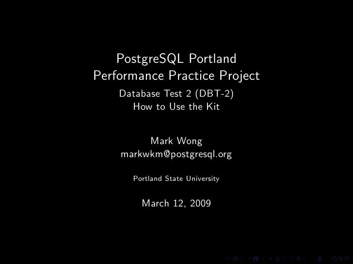 PostgreSQL Portland Performance Practice Project - Database Test 2 Howto