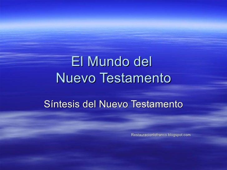 03 El Mundo Del Nt