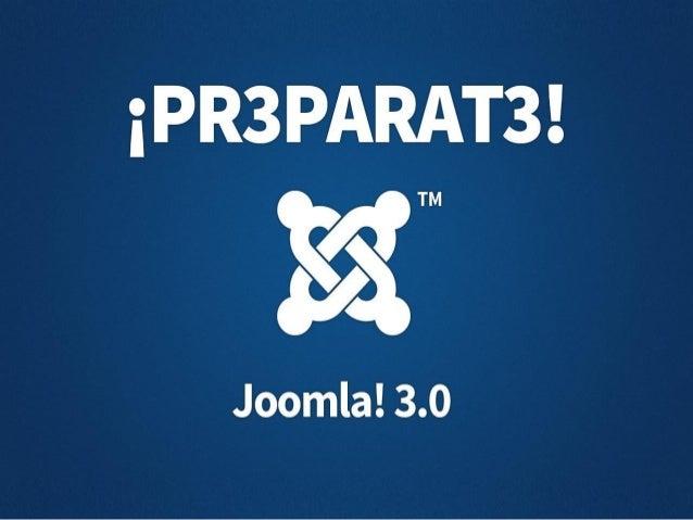 Un recorrido por Joomla 3