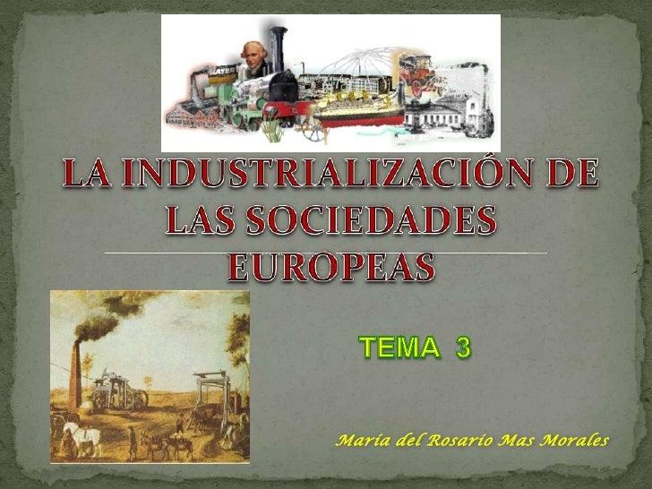 03. la industrialización de las sociedades europeas