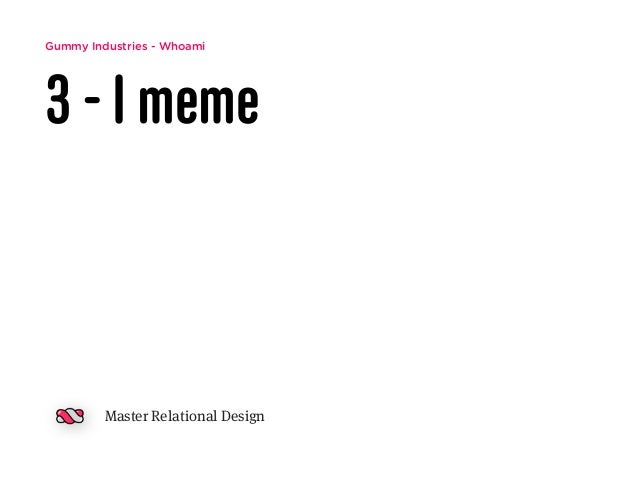 Gummy Industries - Whoami 3 - I meme Master Relational Design