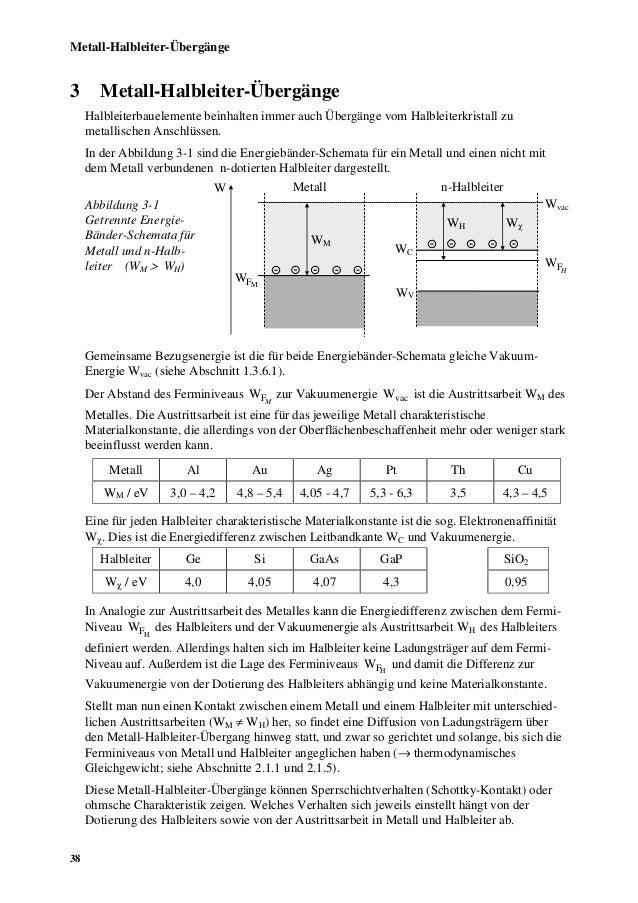Metall-Halbleiter-Übergänge3       Metall-Halbleiter-Übergänge     Halbleiterbauelemente beinhalten immer auch Übergänge v...