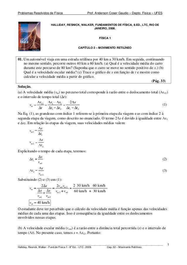 Problemas Resolvidos de Física Prof. Anderson Coser Gaudio – Depto. Física – UFES ________________________________________...