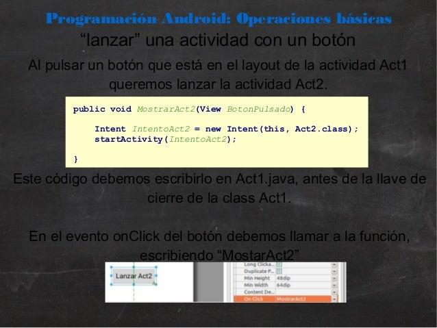 Programación Android   02. Operaciones básicas con Android