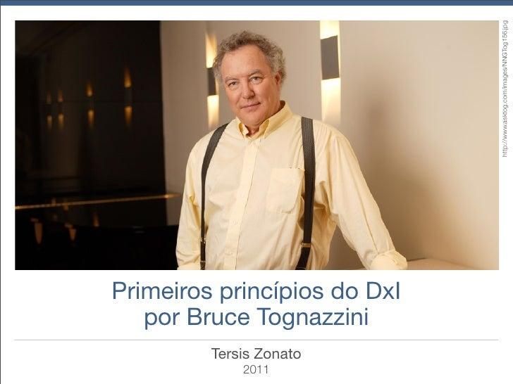 Primeiros princípios do DxI por Bruce Tognazzini