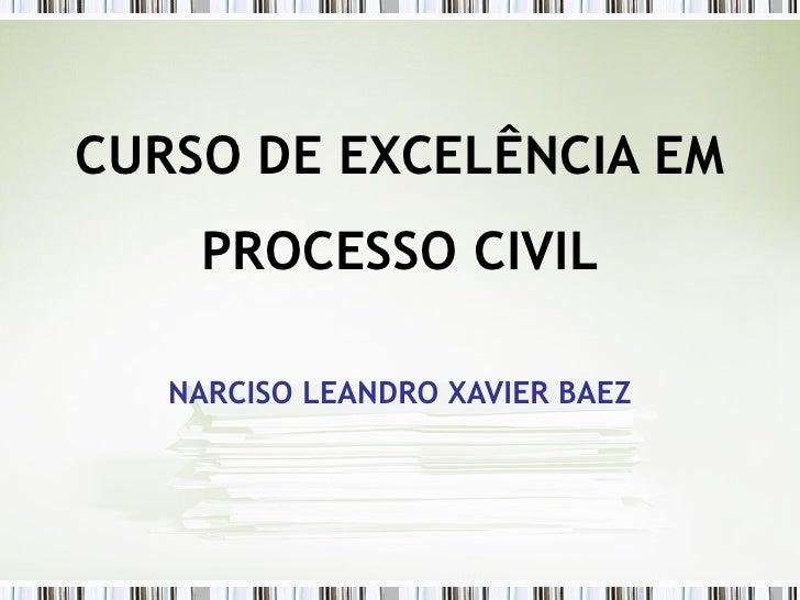CURSO DE EXCELÊNCIA EM PROCESSO CIVIL NARCISO LEANDRO XAVIER BAEZ