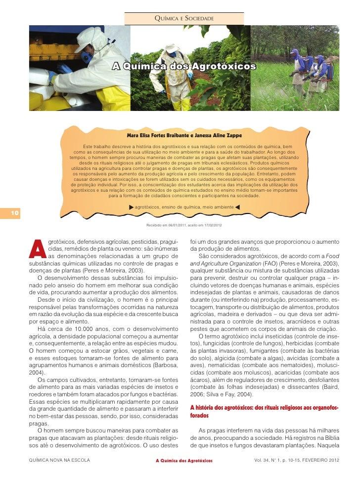 Química e Sociedade                                         A Química dos Agrotóxicos                                     ...