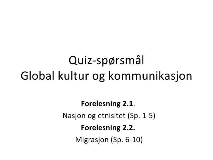03. Quiz Globalkultur