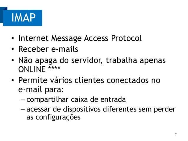 Servi os de rede smtp pop3 e imap - Porta smtp hotmail ...