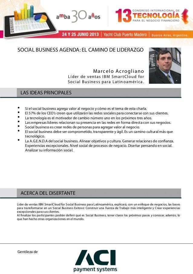 Social Business Agenda; el camino de liderazgo  utilizando las tecnologías sociales