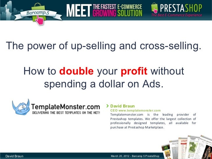 The power of up-selling and cross-selling.              How to double your profit without                 spending a dolla...