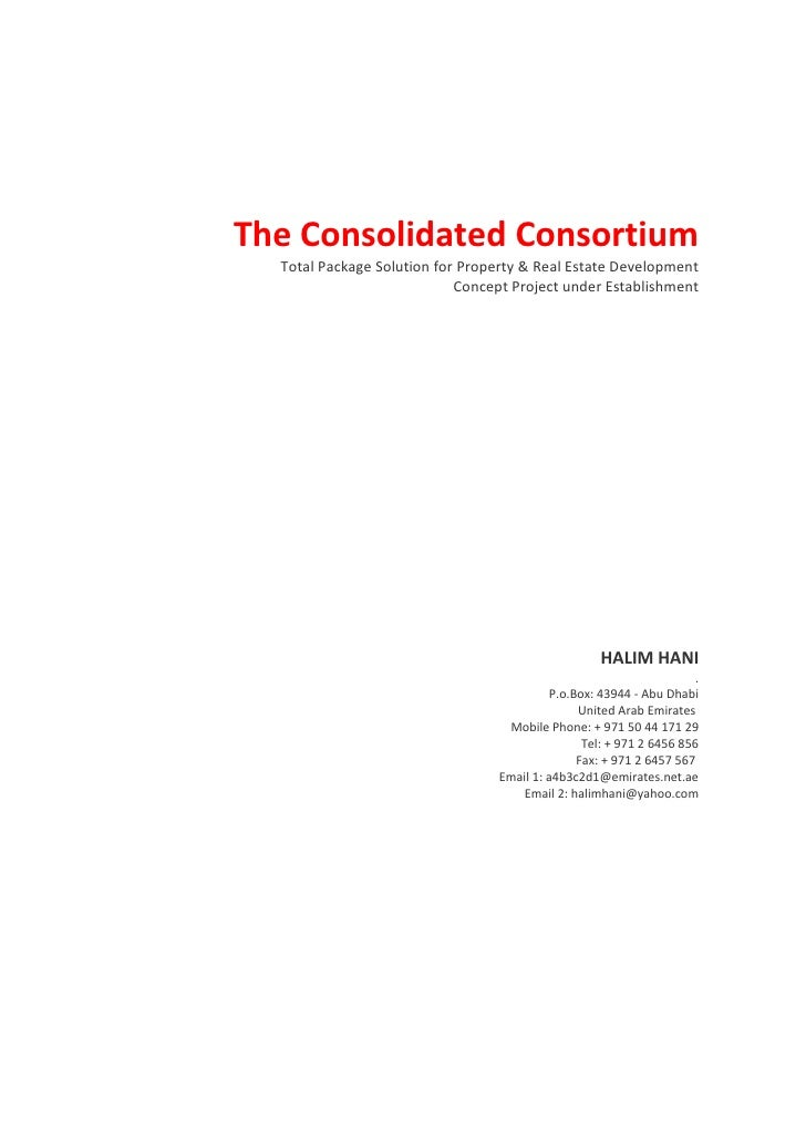 The Consolidated Consortium <br />Total Package Solution for Property & Real Estate Development<br />Concept Proj...