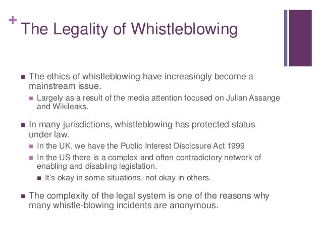 the ethics of whistleblowing in business Whistleblowing definitionwhistleblowing is the act of drawing public attention, or the attention of an authority figure, to perceived.