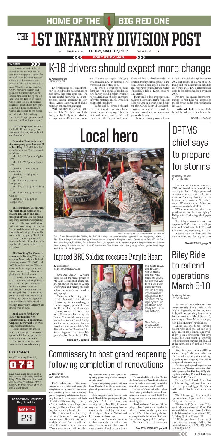 The 1ST Infantry Division Post Edition 2 March 2012
