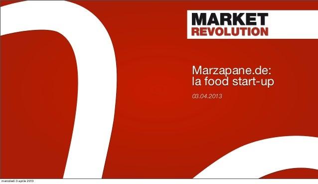 Marzapane.de:                          la food start-up                          03.04.2013mercoledì 3 aprile 2013