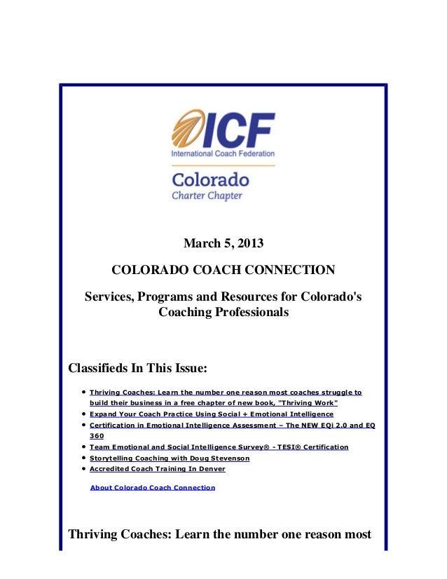 March 5, 2013: Colorado Coach Connection