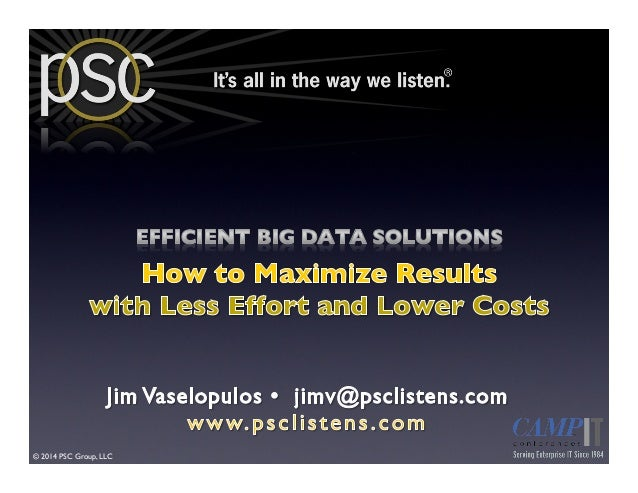 Efficient Big Data Solutions: How to Maximize Results with Less Effort and Lower Costs