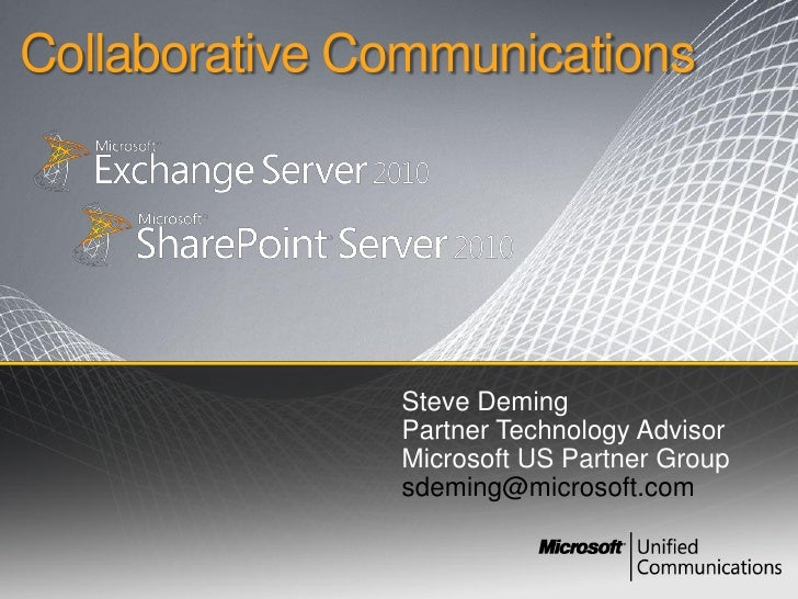 03.09.10 Stn Presentation On Exchange Server And Share Point 2010