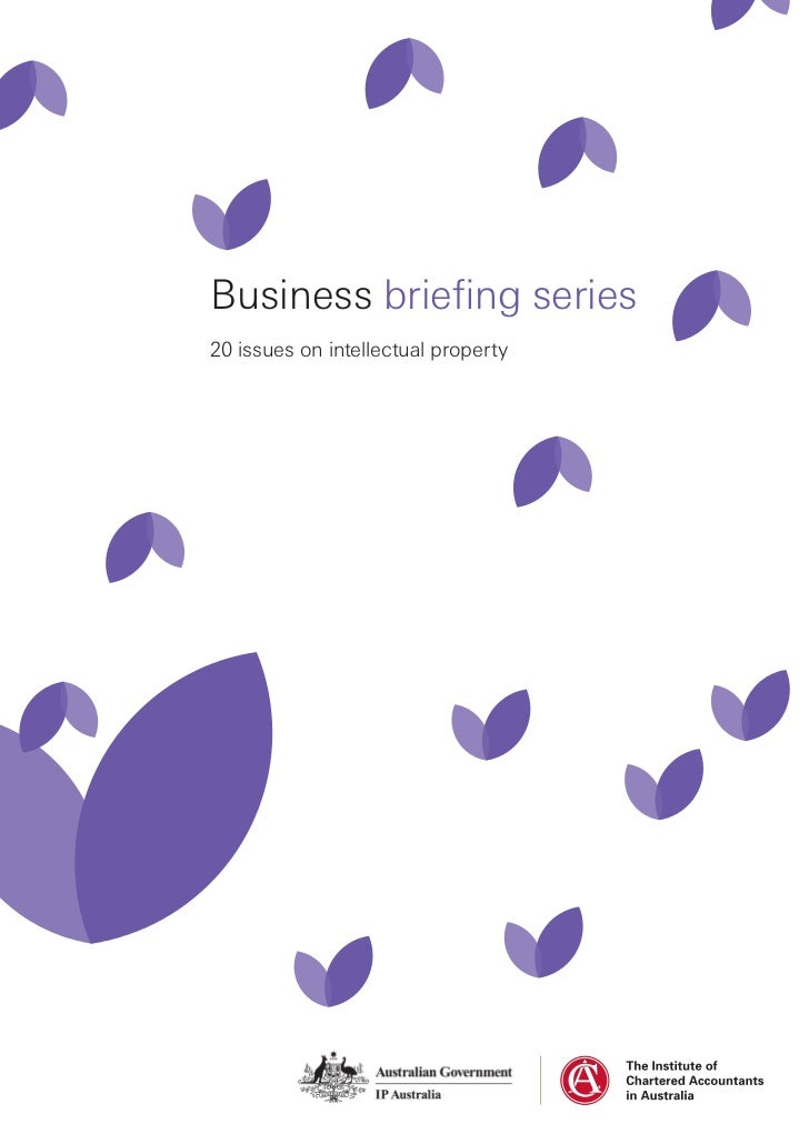 Business briefing series20 issues on intellectual property