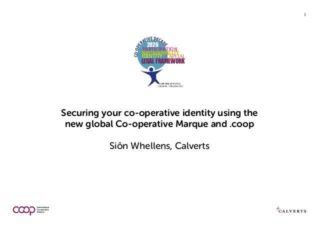 tive deCa ra 2020 d  ParticiPation e  Co-op e  1  SuStainability  identity Capital  LegaL framework  Cape Town, South Afri...