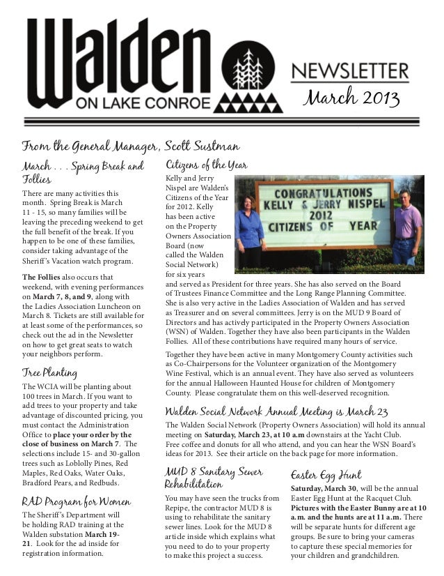 0313 Walden Newsletter