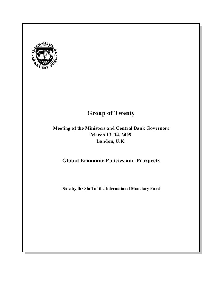 Global Economic Policies and Prospects