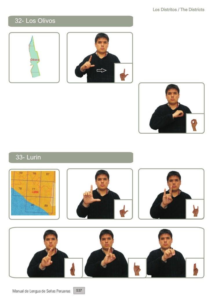 Los Distritos / The Districts 32- Los Olivos 33- LurinManual de Lengua de Señas Peruanas   537