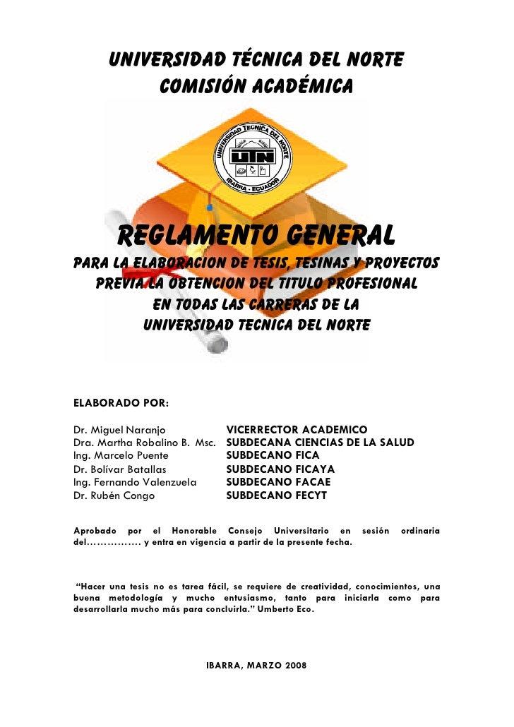 031 reglamento para elaboracion de tesis y tesinas mar