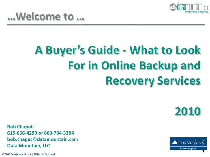 03 2010 Online Buyer 101 Webinar