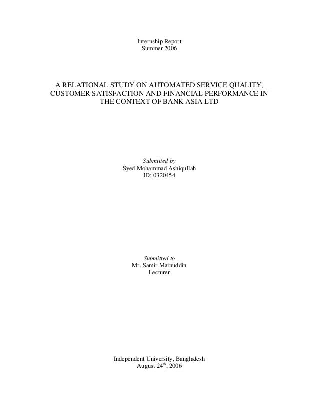 Dissertation service uk quality and customer satisfaction