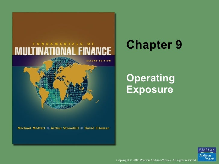 Chapter 9 Operating Exposure