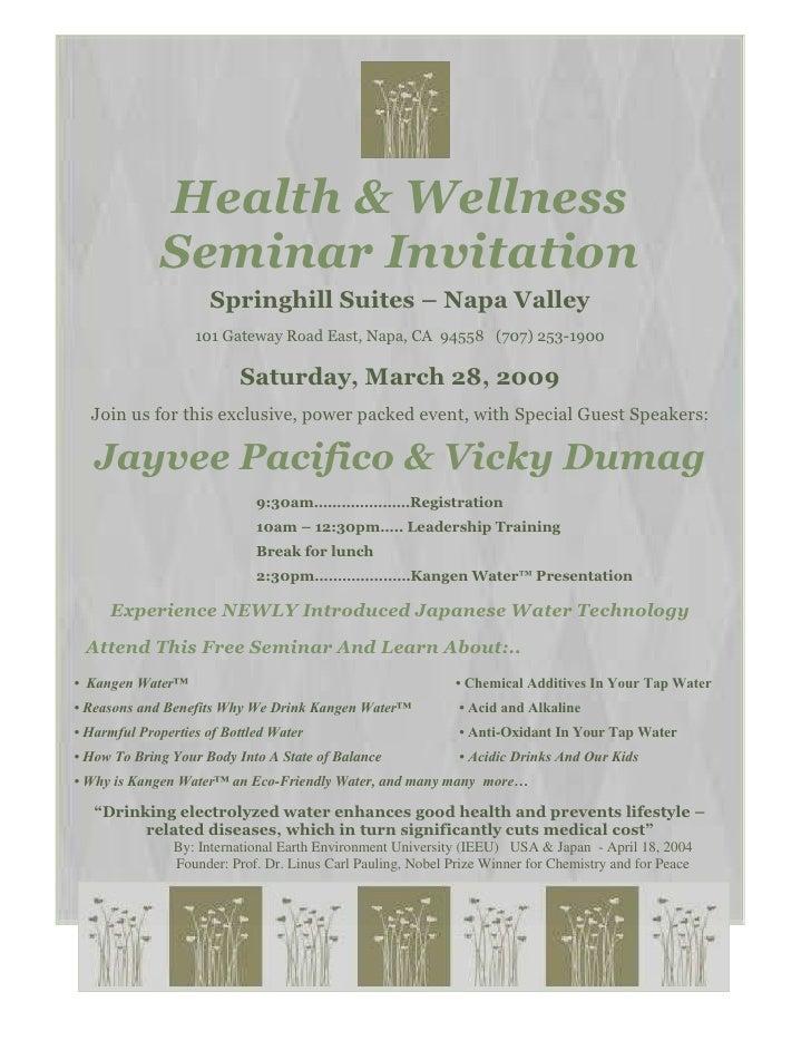 032809 Health And Wellness S Aeminar
