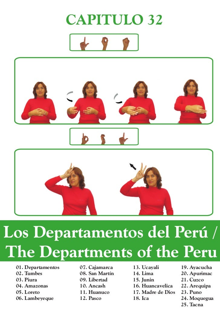 CAPITULO 32Los Departamentos del Perú /The Departments of the Peru 01. Departamentos    07. Cajamarca    13. Ucayali      ...