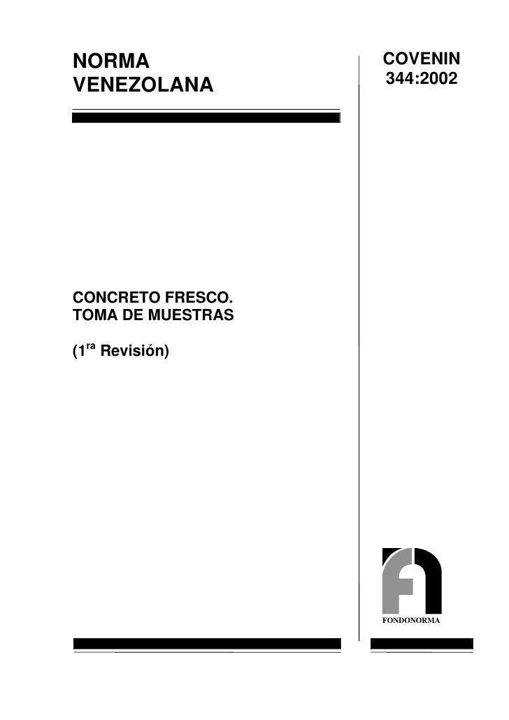 0344 2002 Norma Concreto Fresco Toma De Muestra